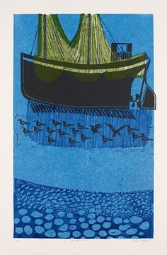 'Sussex Boats and Nets (No.5)' by Robert Tavener