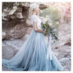 Oh My how stunning is this gown by @chantellaurendesigns! Image: @tylerrye_ by vanillaroseweddings