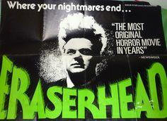 UK Quad poster for David Lynch's legendary Eraserhead (1977)