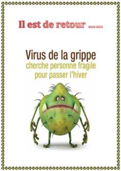 Affiches grippe et varicelle
