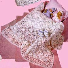 Uncinetto e crochet: Copertina per neonato all'uncinetto