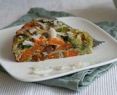 Frittata met platte kaas, broccoli en kerstomaatjes - Recept uit myTaste Baked Frittata, Frittata Recipes, I Love Food, Good Food, Cant Stop Eating, Vegetable Pizza, Broccoli, Veggies, Healthy Eating
