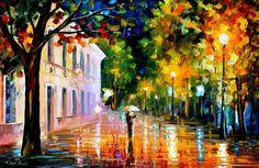 Cityscape oil painting City Of Destiny by AfremovArtStudio