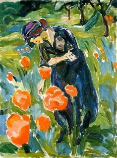 Woman With Poppies by Edvard Munch Handmade oil painting reproduction on canvas for sale,We can offer Framed art,Wall Art,Gallery Wrap and Stretched Canvas,Choose from multiple sizes and frames at discount price. Edvard Munch, Art And Illustration, Figurative Kunst, Inspiration Art, Oil Painting Reproductions, Paintings I Love, Art Graphique, Henri Matisse, Famous Artists