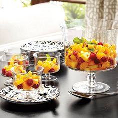 Wisteria, Vittoria Glass Dinnerware Collection -- $24.99 for large compote bowl or for set of 4 small compote bowls