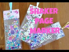 "Tutoriel Marque pages ""Shaker"" estival ! Bookmarks Diy Kids, Bookmark Craft, Diy Crafts For Girls, Handmade Gift Tags, Personalized Gifts, Diy Confetti, Shaker Cards, Camping Crafts, Diy Gifts"
