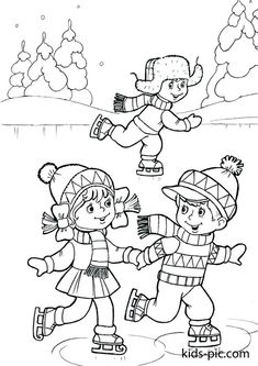 Children ice skating coloring page Coloring Pages Winter, Coloring Sheets For Kids, Mandala Coloring Pages, Animal Coloring Pages, Coloring Book Pages, Printable Christmas Coloring Pages, Free Christmas Printables, Free Printable Coloring Pages, Winter Crafts For Kids