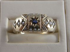 Gypsy Ring Sapphire and Pearls