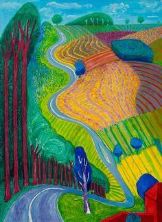 David Hockney, Going Up Garrowby Hill, 2000, Private Collection © David Hockney
