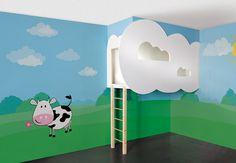 Wolkenpalast - bed in the clouds - Step by step tutorial and free pdf template - Bildanleitung und pdf Schnittvorlage
