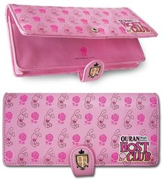 Tote your love of the popular manga franchise, this Ouran High School Host Club Wallet! This Velcro closure wallet features Bun-Bun Rabbit and Roses. Wallet features card holders, id, and cash holders