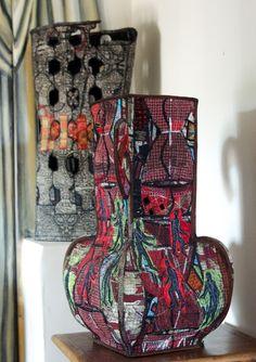 Chasing Santa Fe: Kay Khan - The Spirit of a Studio Textile Sculpture, Textile Fiber Art, Sculpture Painting, Textile Artists, 3d Quilts, Textiles, Thread Art, Box Art, Fabric Art