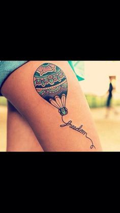 I adore this hot air balloon tattoo!