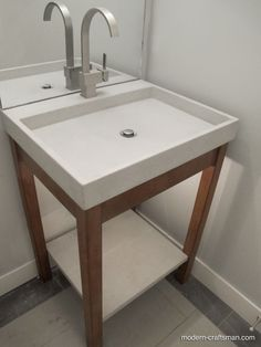 Modern U0026 Contemporary Bathroom Sink With Concrete And Wood By Modern  Craftsman Tyler Blaine