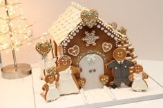 I created this gingerbread house for a friends Christmas wedding which took place December The theme was christmas and nordic using very neutral colour pallette and lots of sparkle! It took 2 batches of gingerbread dough, 2 large bags. Gingerbread Dough, Christmas Gingerbread House, Gingerbread Houses, Christmas Houses, Gingerbread Cookies, Xmas Wedding Ideas, Christmas Wedding, Fancy Cookies, Holiday Cookies