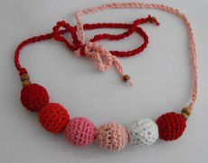 Nursing Necklace - rosu