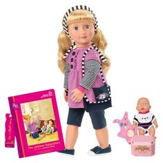Our Generation Deluxe Doll with Book - Ashley Rose