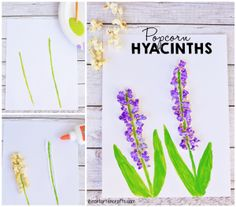 Popcorn Hyacinths Craft For Kids