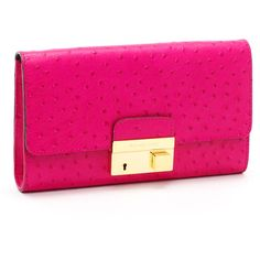 Women's Michael Kors Gia Ostrich-Embossed Leather Clutch ... neimanmarcus  found on Polyvore