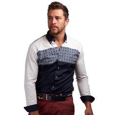 Camisa para caballero confeccionada 100% algodón en un corte slim fit Solo en Tiendas Platino #TiendasPlatino #TiendaPlatino #slimfit #camisa #caballero #hombre #moda #hechoenmexico #fashionmen #menwithclass #mensfashion #menstyle