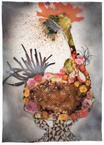 Wangechi Mutu, Botanical Arrangement Burst, Courtesy the artist and Gladstone Gallery New York and Brussels. African Artists, Mixed Media Collage, Female Art, Art Pictures, Gladstone, Brussels, York, Creative, Painting