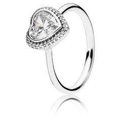 Pandora Ring Liebesbund 190929CZ Herz Zirkonia Sterling Silber