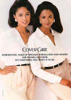 Lana Ogilvie and Karen Alexander, 1993 Two of the earliest Black models to get a cosmetic's contract and to be featured in ads without being paired with a white model.