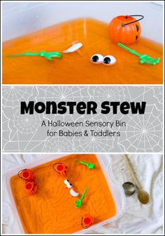 Monster Stew – A Halloween Sensory Bin for Babies & Toddlers