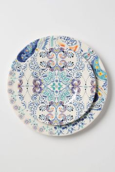 Swirled Symmetry Dinner Plate- fun kaleidoscope design + pretty color story