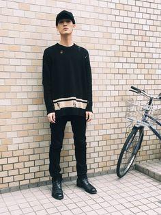 畔柳 宏 Koh Kuroyanagiさんのニット・セーター「MIHARA YASUHIRO 」を使ったコーディネート