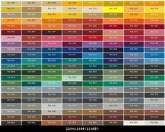 RAL color palette Vespa