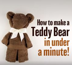 How to make a Teddy bear in under a minute