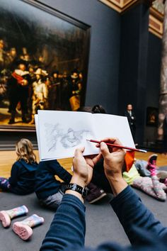 Rijksmuseum in Netherlands invites us to put down our phones and sketch.
