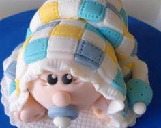 Fondant Baby Cake Topper Baby Dusche Kuchen von InscribingLives