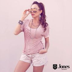 Cool and style para começar a semana 💟💟 Tshirt rose quartz (119) + shorts sun washed (149) 😊🌞 #heroinadodenim #jeans #denim #lookmara #tshirt #tee #shorts #sunwashed #rosequartz #jones #fortaleza #brasil