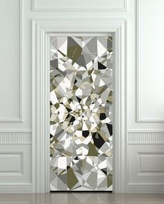fun! Needs to be the door to my closet! LOL Door cover STICKER poster diamond rhinestone crystal film 30x79""
