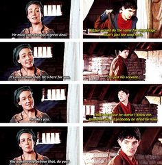 The fact that Merlin doesn't even think Arthur likes him, when in truth, Arthur would die for him just as easily as Merlin would die for Arthur.