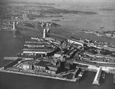 Aerial view of Millers Point in Sydney in 🌹 Powerful Pictures, Famous Landmarks, Historical Pictures, Sydney Australia, Sydney Harbour Bridge, Aerial View, Old Photos, Great Places, Paris Skyline
