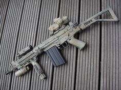 7.62 NATO FAL. Love this bloody rifle!