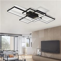 Buy Modern Black LED Flush Mount Ceiling Light Square Combination Shape for Office Meeting Room Living Dining Room Bedrooms, sale ends soon. Be inspired: discover affordable quality shopping on Gearbest Mobile! Square Ceiling Lights, Modern Led Ceiling Lights, Flush Ceiling Lights, Flush Mount Ceiling, Ceiling Light Fixtures, Office Ceiling Light, Living Room Lighting, Bedroom Lighting, Luz Artificial