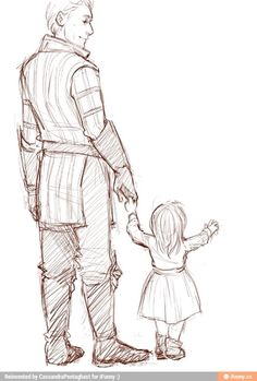 Backstory & Character: Uncle Crester and little Hester. She was a bit bigger when she first came to Crester, but she was still little.