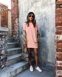 Lady in Pink! / Cara Dress Sweatshirt: shopsincerelyjules.com