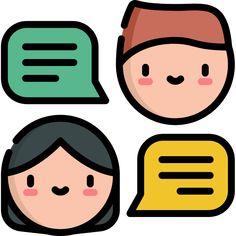 Chat free vector icons designed by Freepik Work Flow Chart, Vector Icons, Vector Free, Iphone Logo, Emoji Design, Kawaii Doodles, Dibujos Cute, Edit Icon, More Icon