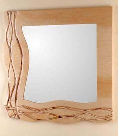 Handmade Mirrors, Woodworking Tools, Modern Art, Sculpture, Wall Art, Wood Working, Birch, Crafts, Bathroom