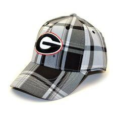 57d13c4885a5e NCAA Georgia Bulldogs Men s Line Drive 1 Fit Cap (Grey Plaid