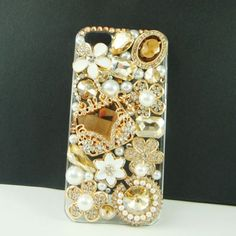 iphone 5 case champagne Luxury gems beautiful perfume bag case cover  | LiuxingGARDEN - Accessories on ArtFire
