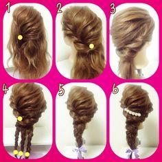 #hair #hairarrange #ヘアアレンジ #ヘアセット #プロセス