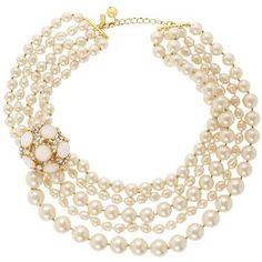 kate spade new york Belle Fleur Pearl Statement Necklace