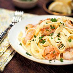 Shrimp Fettuccine Alfredo | MyRecipes.com  http://www.myrecipes.com/recipe/shrimp-fettuccine-alfredo