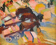 Sigrid Hjertén - Hästarna på Torget 1912-13
